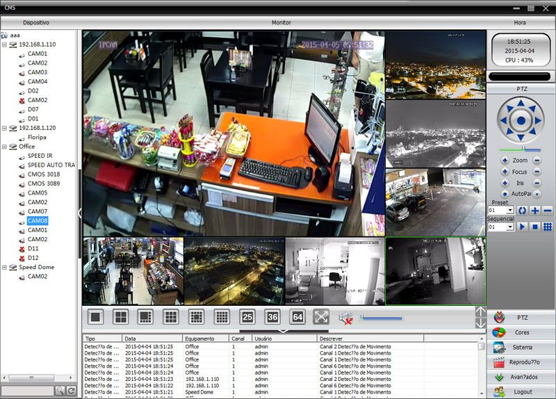 Câmera IP 1.0MP HD 720p com lente 2.8mm
