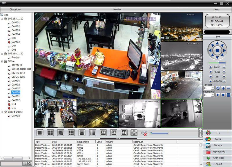 Câmera IP Full HD 1080p cabeado XMEYE