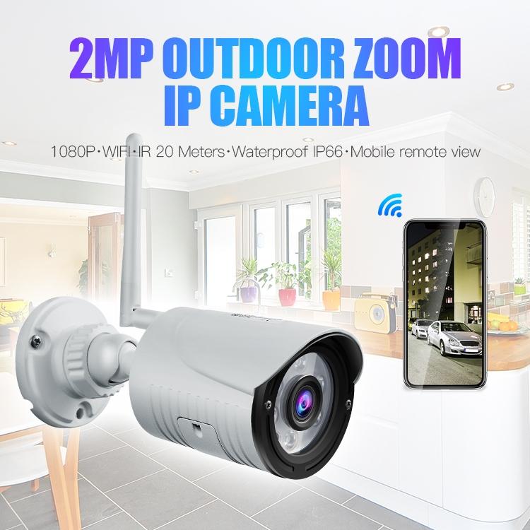 Câmera IP sem fio Full HD 1080p ZOOM 4X aceita micro SD de até 128GB