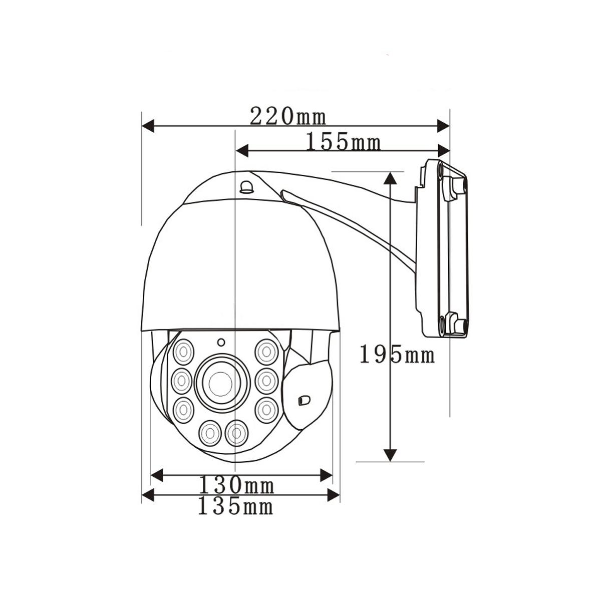 Câmera IP Speed Dome 1.3 MP 960p Zoom 22x