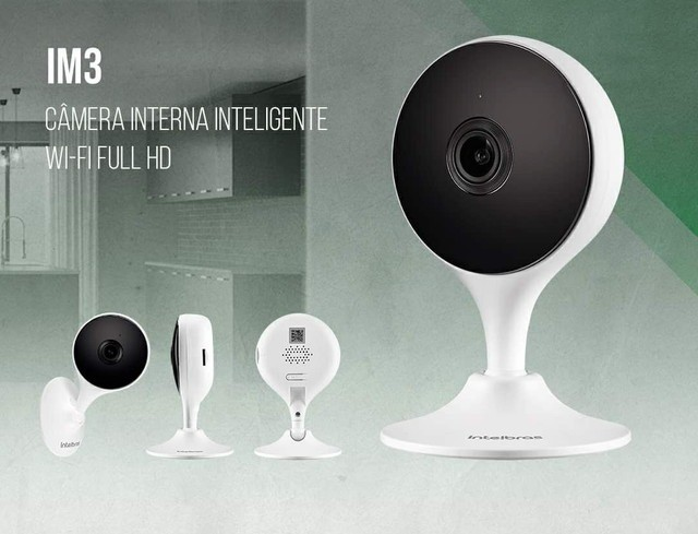 Câmera IP Wi-Fi Full HD Intelbras iM3 Black