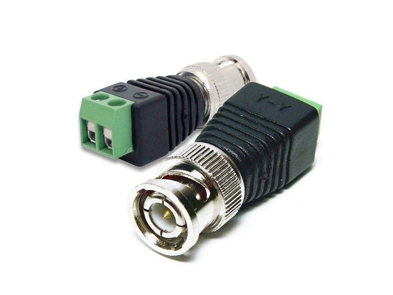 Conector adaptador plug BNC com borne