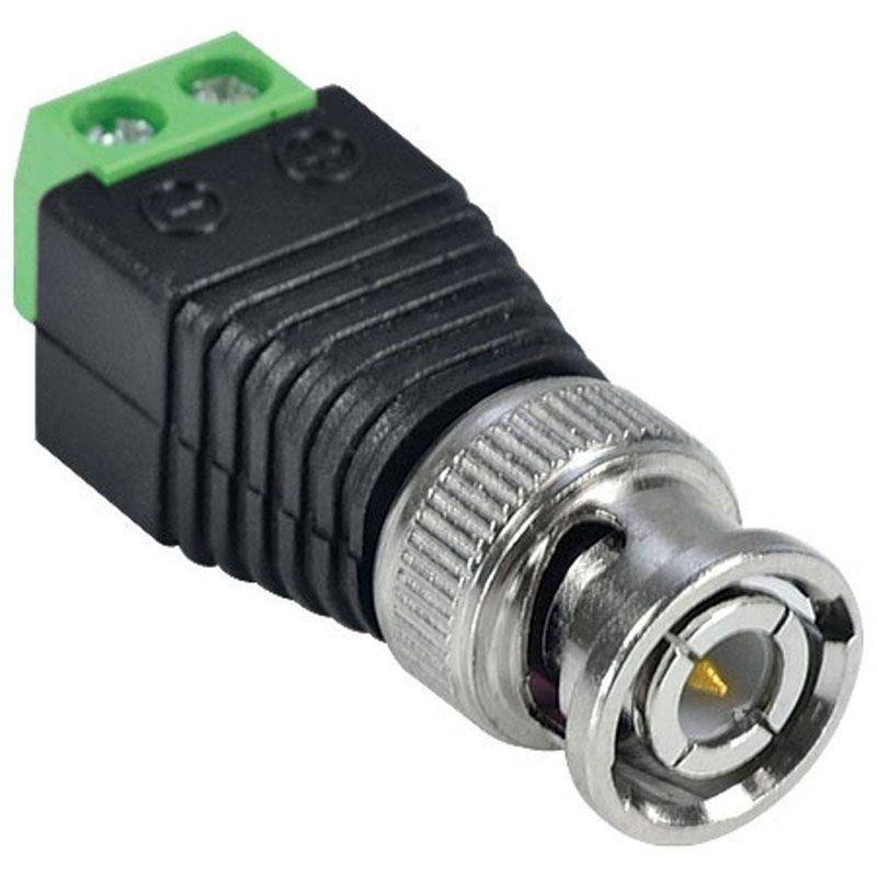 Conector Adaptador plug BNC Macho com Borne