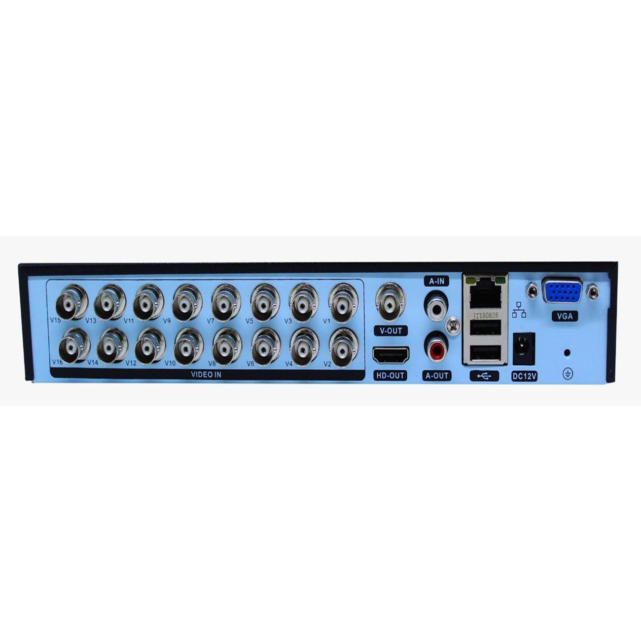 DVR Stand Alone 16 canais FULL HD 1080p Pentaflex 5 em 1