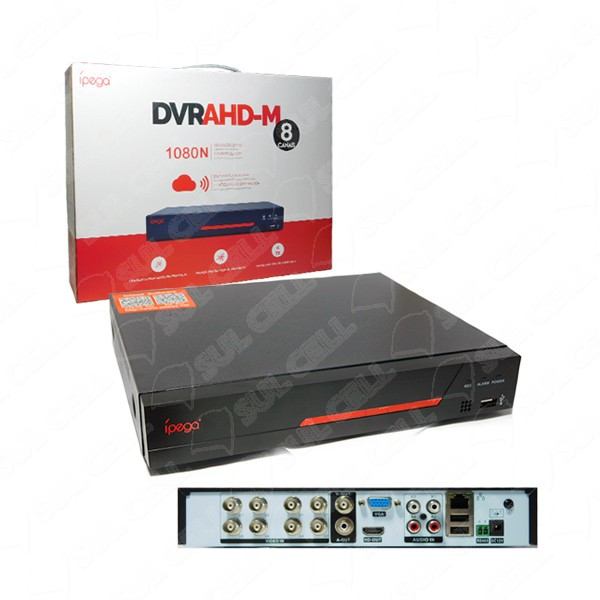 DVR Stand Alone 8 canais FULL HD 1080p Pentaflex XMEYE
