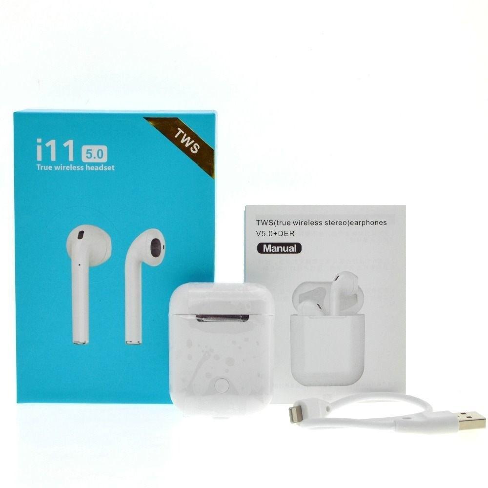 Fone de Ouvido Bluetooth I11 TWS Sem Fio com Case Carregador