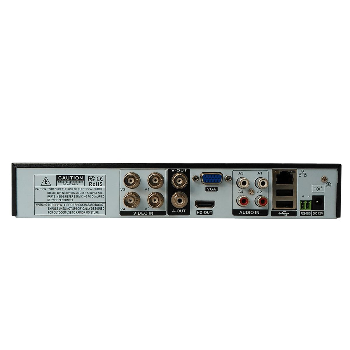 Gravador DVR 4 canais FULL HD 1080p Pentaflex H265 XMEYE