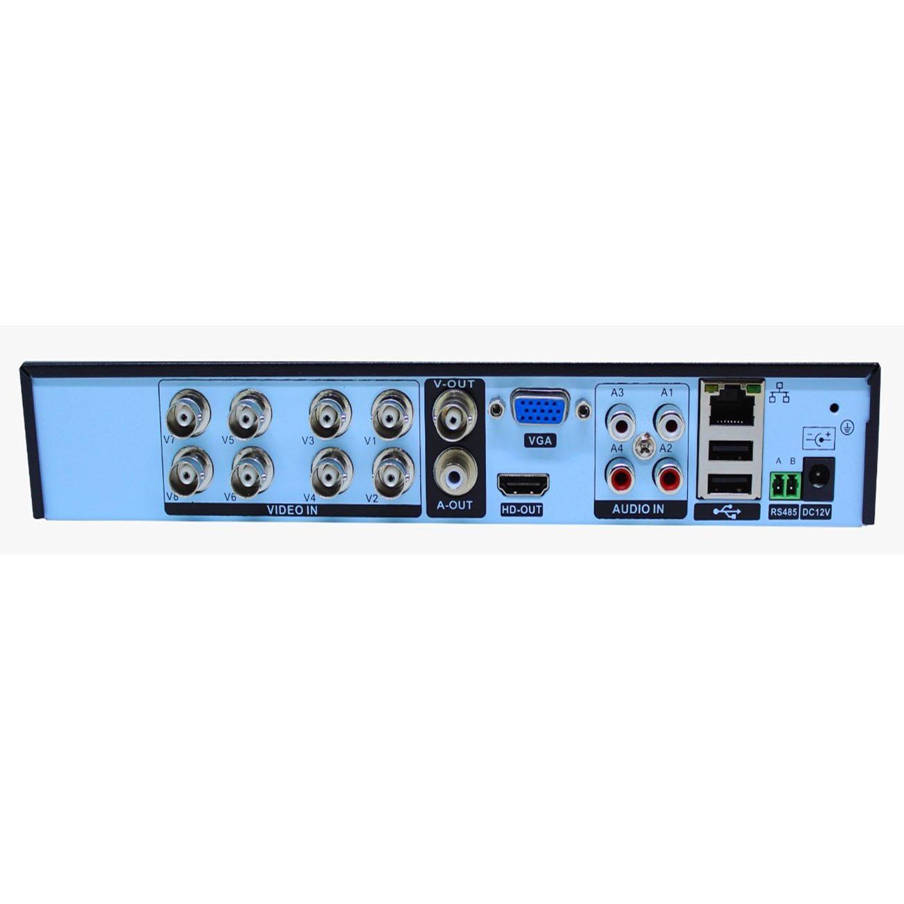 Gravador DVR 8 canais FULL HD 1080p Pentaflex H265 XMEYE