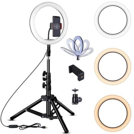 Iluminador LED Ring Light 12 Polegada Tripé 2mt Profissional