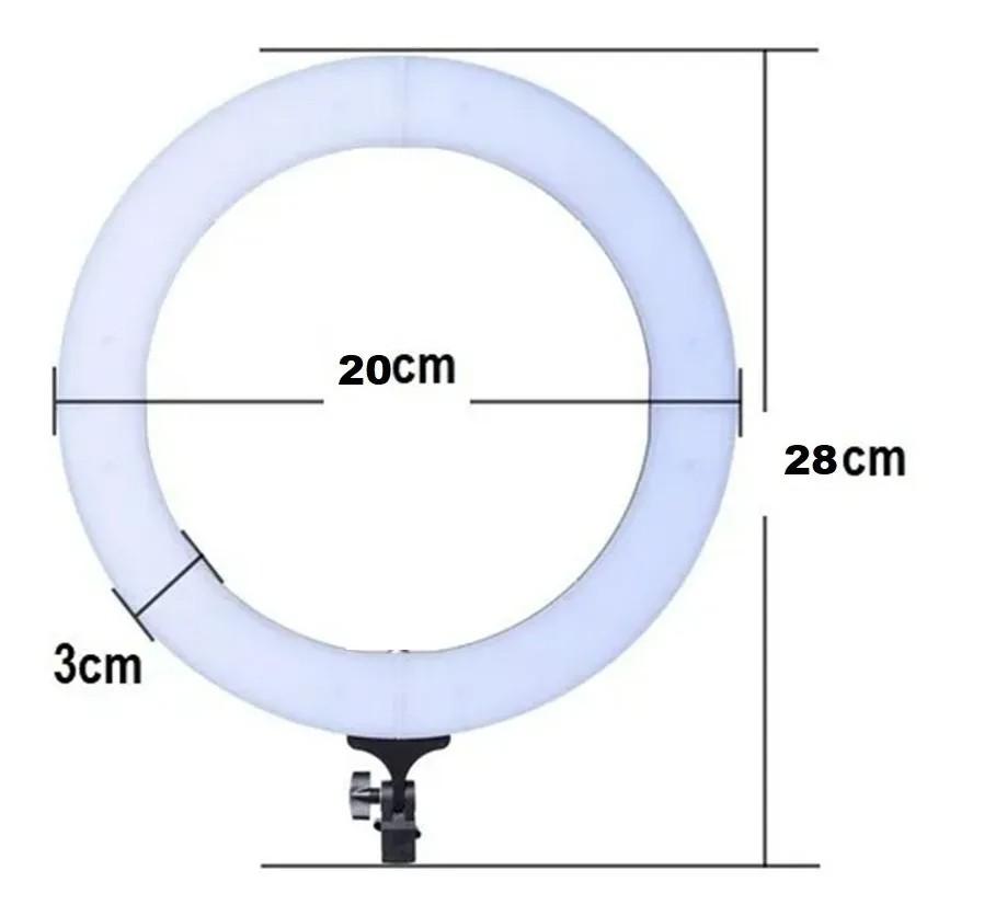 """Iluminador LED Ring Light 8"""" Polegadas com Mini Tripé"""