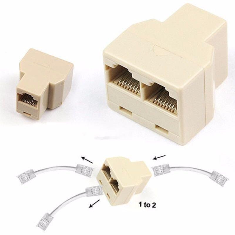 Kit 10 peças adaptador divisor splitter cabo de rede RJ45