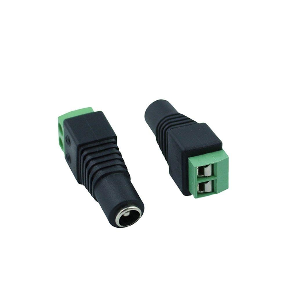 Kit 16 conector adaptador plug P4 fêmea com borne