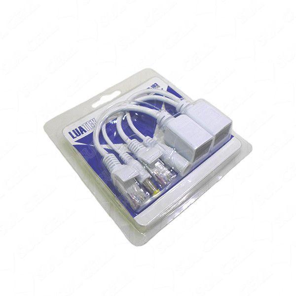 KIT 16 pares cabo adaptador POE injetor e separador