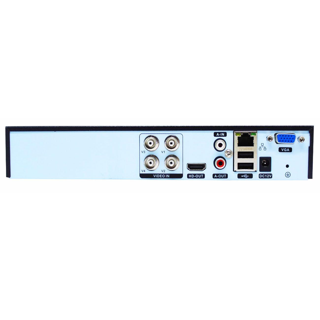 Kit 2 Câmeras de Segurança IP HD 720p Wifi + DVR/NVR Pentaflex 5 em 1 + Fonte 12V