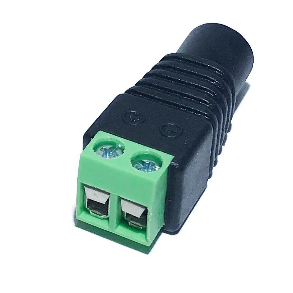 Kit 4 conector adaptador plug P4 fêmea com borne