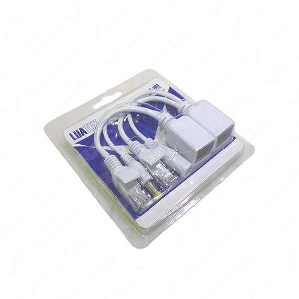 Kit 8 cabo adaptador POE injetor e separador