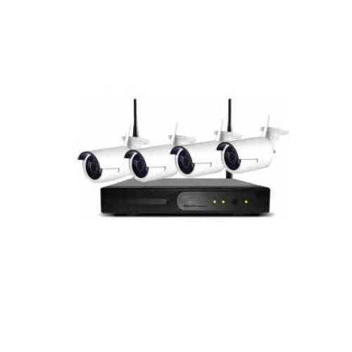 Kit IP NVR 4 Câmera HD Wifi Sem Fio Fácil instalação