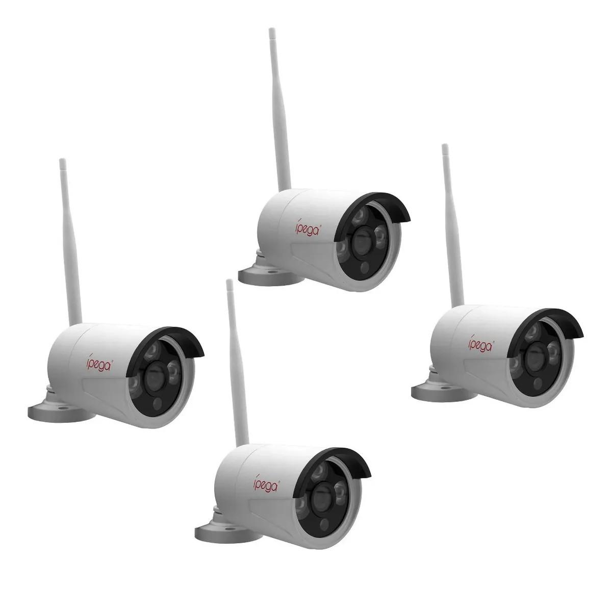 Kit Monitoramento NVR com 4 Câmera IP FULL HD Sem Fio Fácil Instalação