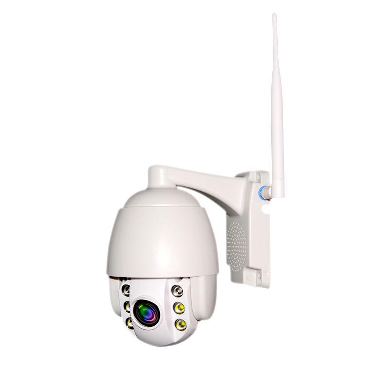 Mini Speed Dome IP Externa Full HD 2.0MP Zoom 4x suporta cartão SD 128GB