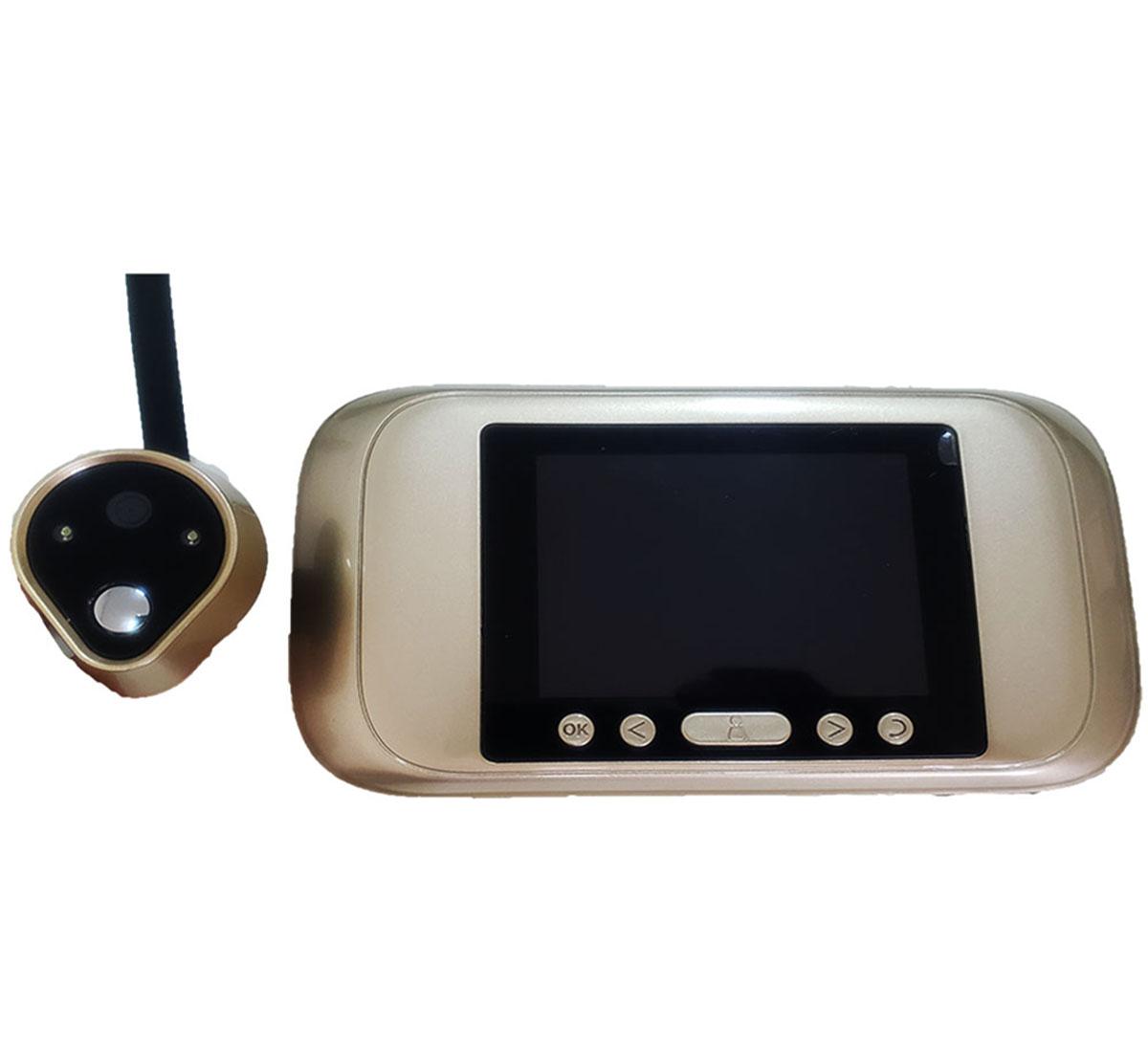 Olho Mágico HD 720p HD Grava foto e vídeo suporta SD até 32GB
