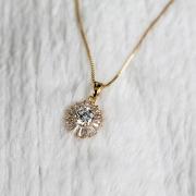 Pingente Mandala Cravejada de Zircônias Folheada em Ouro 18K  (Corrente não inclusa)