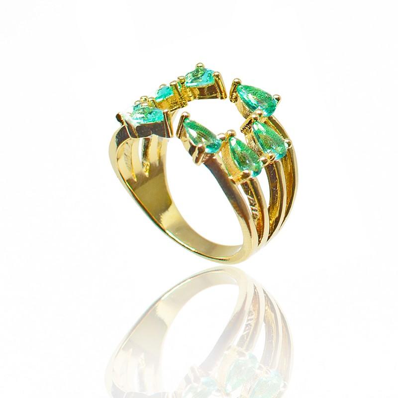 Anel de Pedra Ouro 18K