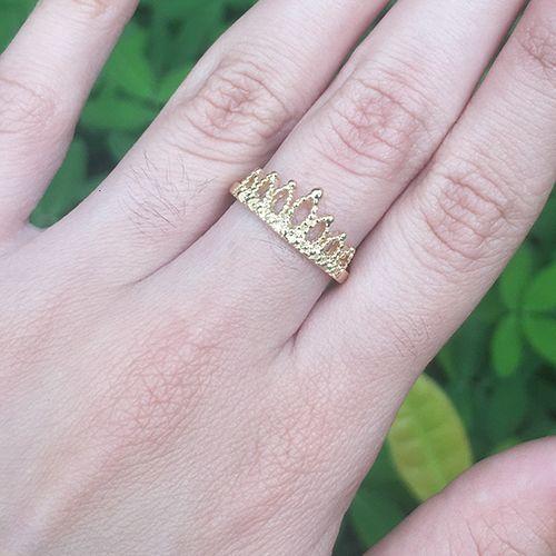 Anel Coroa Ouro 18K
