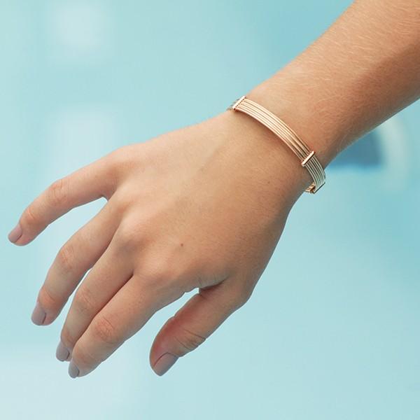 Bracelete 7 Fios Ouro 18K