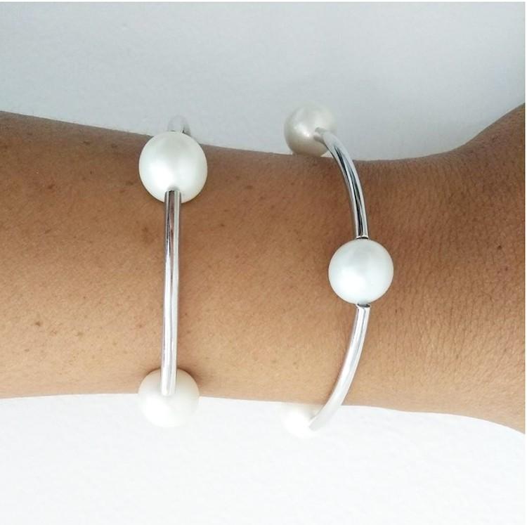 Bracelete Articulado Pérola Shell