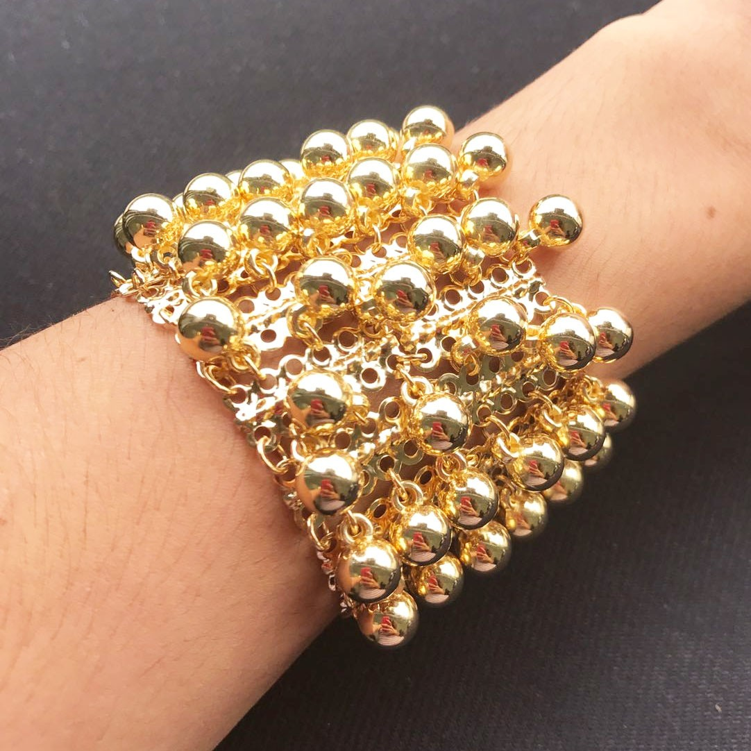 Bracelete Bolas Ouro 18K