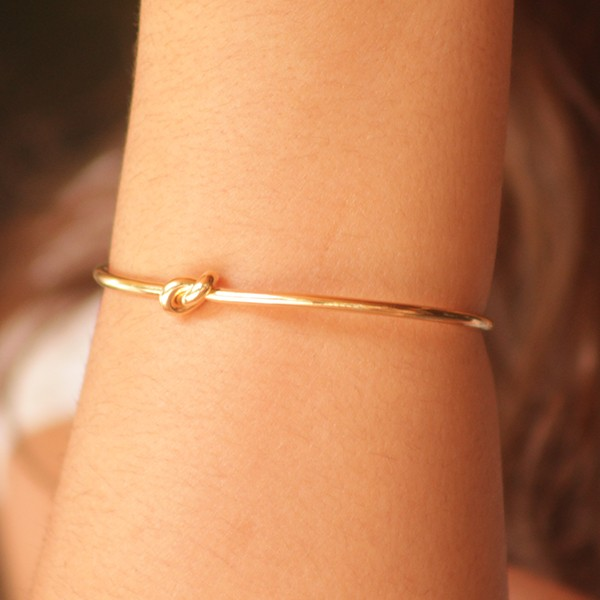 Bracelete Nó Ouro 18K