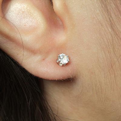 Brinco Ear Cuff Folheado em Ródio Branco