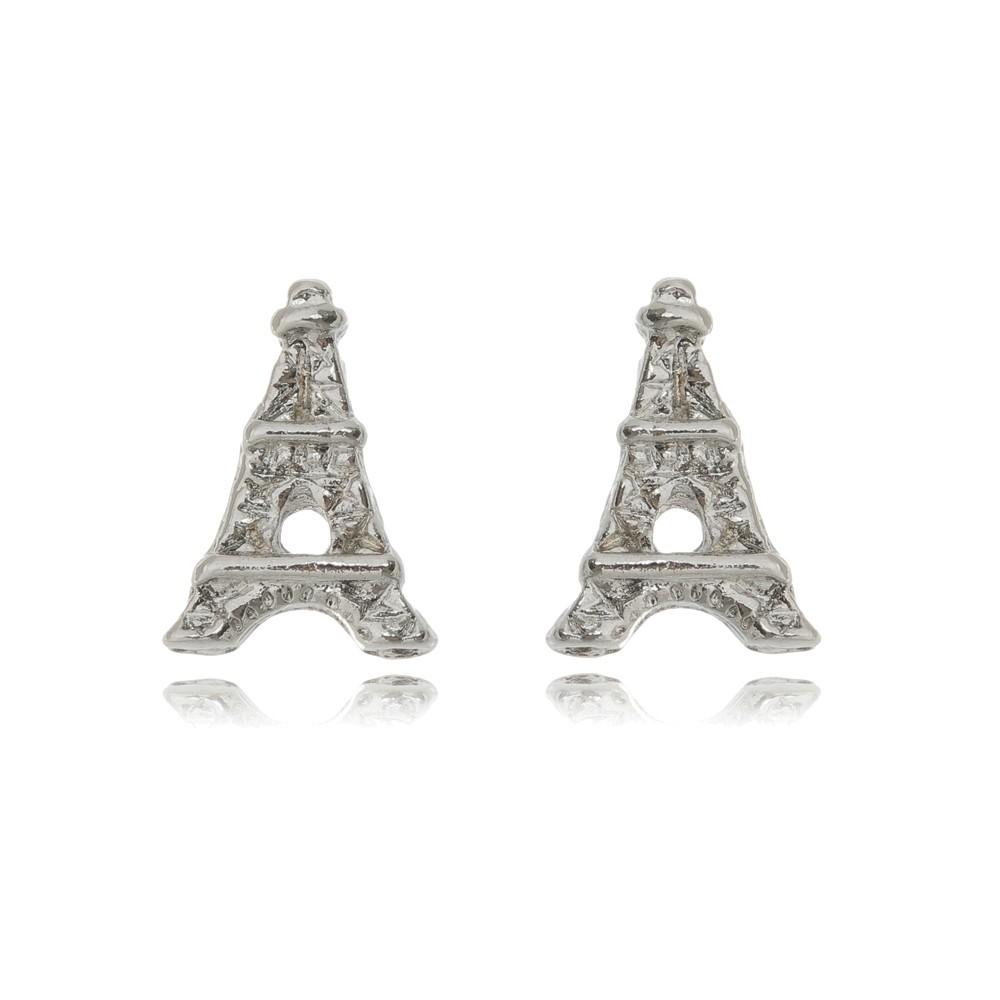 Brinco Torre Eiffel Ródio Branco