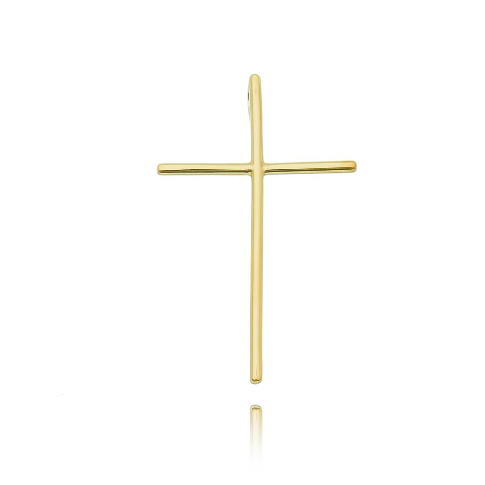 Gargantilha Cruz Ouro18K