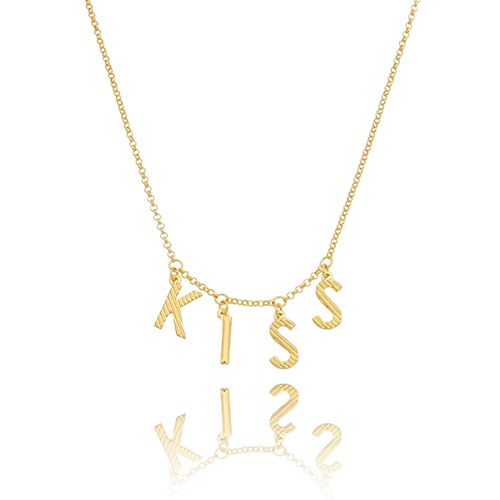 Gargantilha KISS Folheado em Ouro 18K