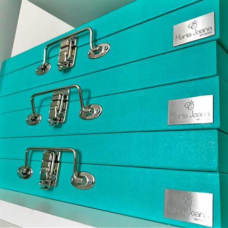 Maleta Porta Joias cor Tiffany