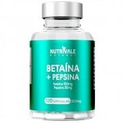 Betaína HCL + Pepsina 120 Cápsulas 500mg - Nutrivale