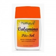 Loção Pós Sol - Calamina + Mentol + Aloe Vera 120 ml - Multinature