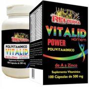 Vitalid Power Polivitaminico de A a Zinco 100 Cápsulas 500mg - Rei Terra