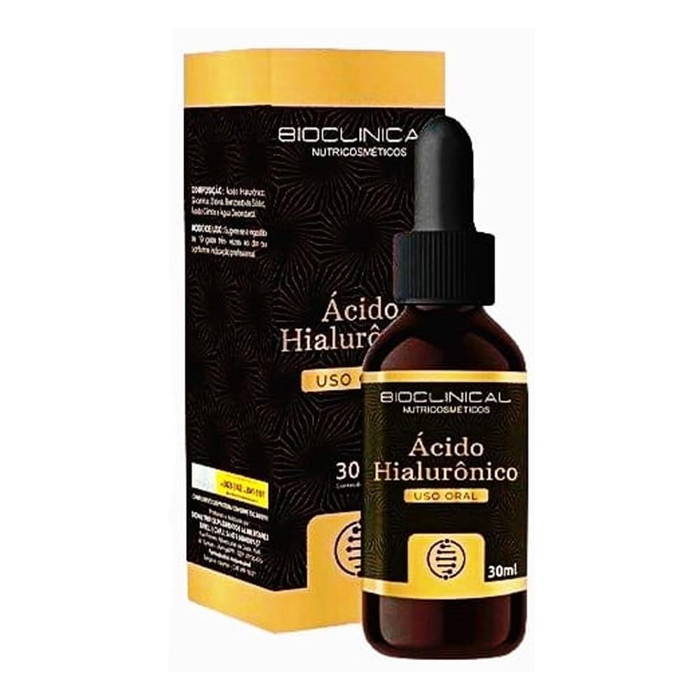 Ácido Hialurônico 30ml Uso Oral Rápida Absorção - BioNutrir