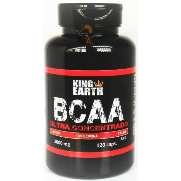 Bcaa Ultra Concentrado 120 Cápsulas 3000mg - King Earth