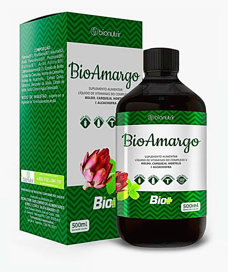 Bio Amargo c/ Boldo Carqueja Hortelã e Alcachofra 500ml - Bionutrir