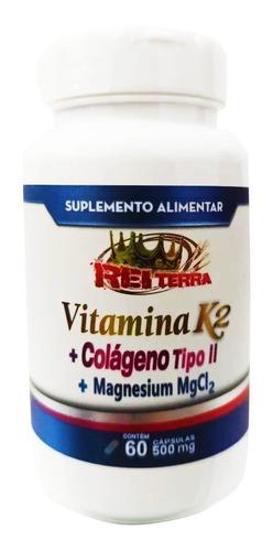 Colágeno Tipo II + Vitamina K2 + Magnesium 60 Cápsulas 500mg - Rei Terra
