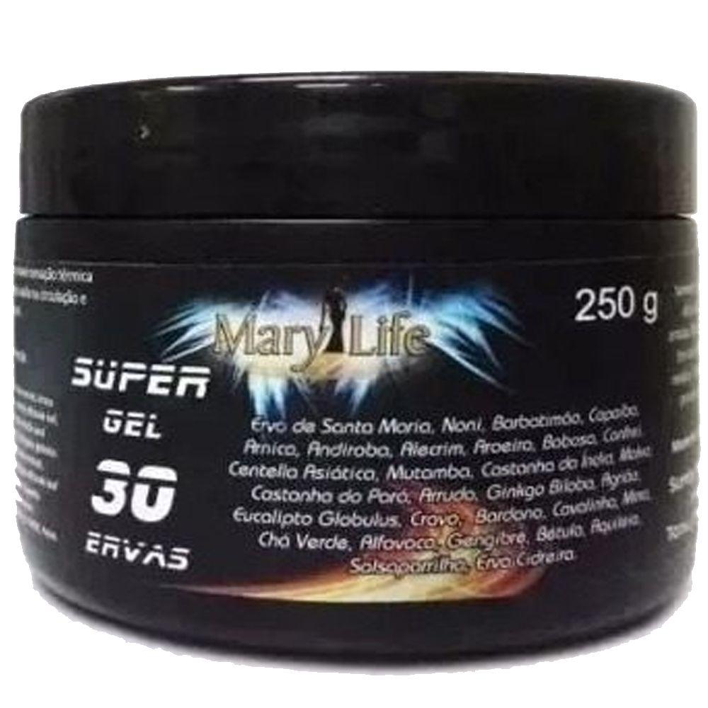 Kit 3 Super Gel 30 Ervas Massageador Efeito Gelo Quente Mary Life 250g