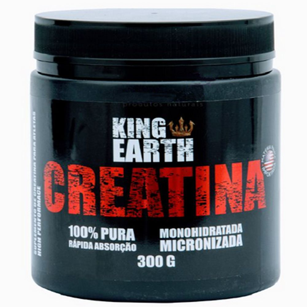 Creatina Monohidratada 100% Pura 300g - King Earth