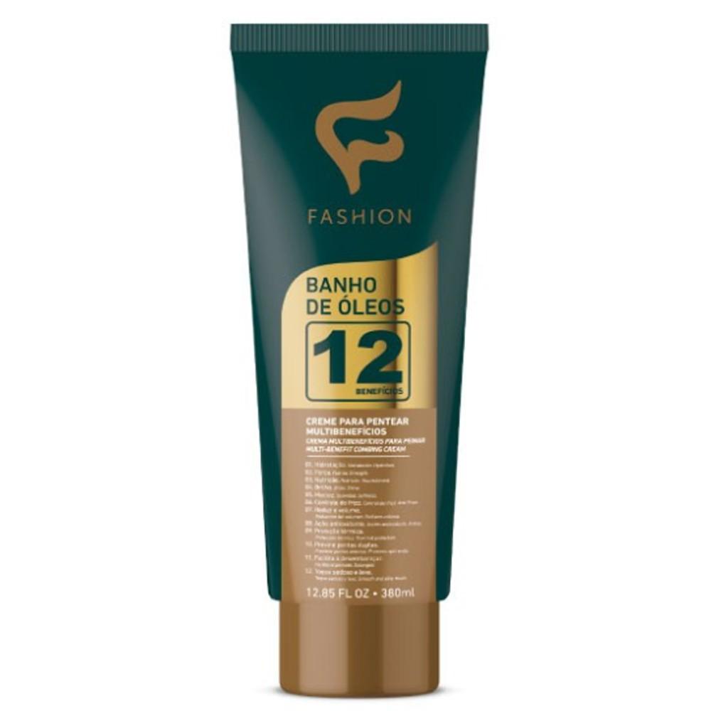 Creme Para Pentear Banho de Óleos 12 Benefícios 380ml - Fashion