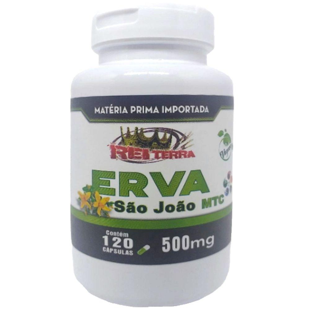Erva de São João Vegan Importado MTC 500mg 120 Cápsulas
