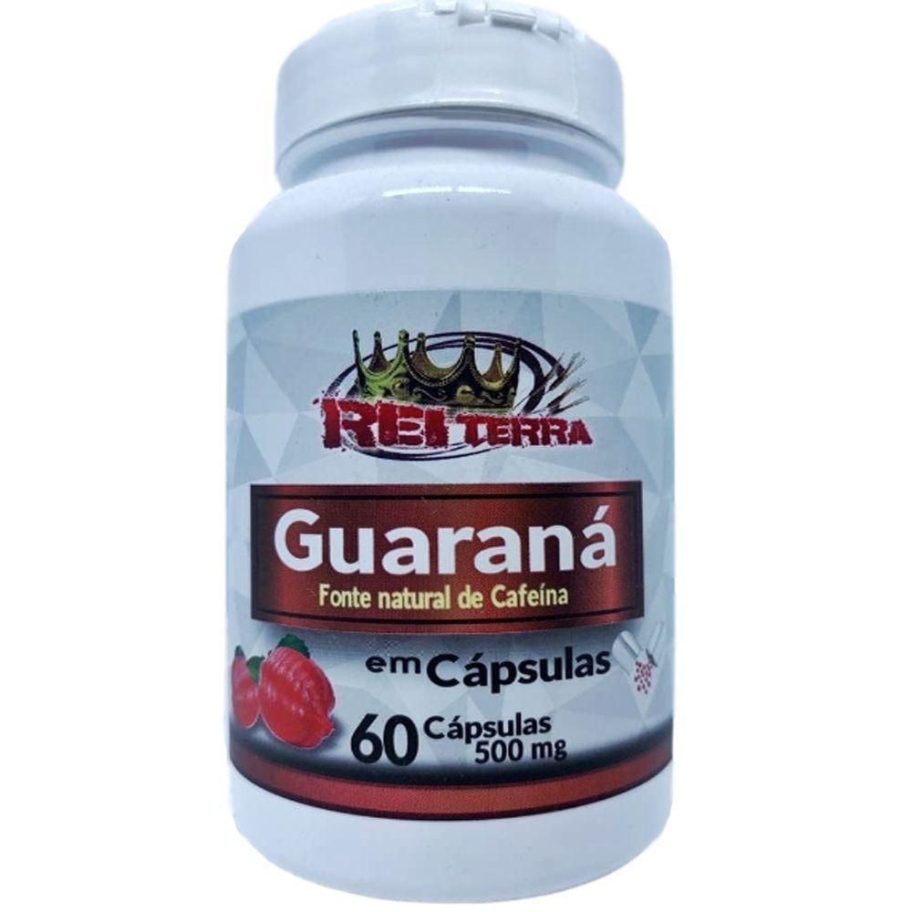 Guaraná 60 Cápsulas 500mg - Rei Terra