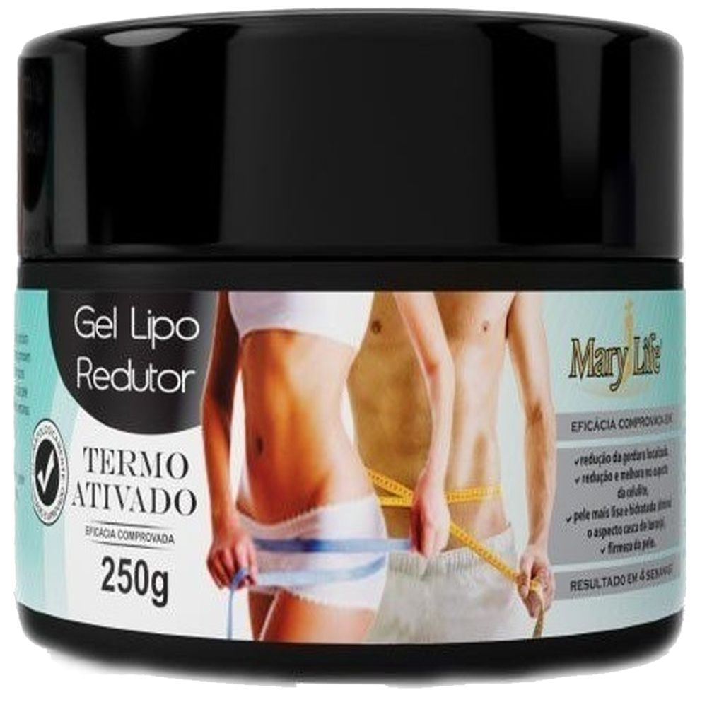 Kit 3 Gel Lipo Redutor Termo Ativado Anti Celulite Mary Life 250g