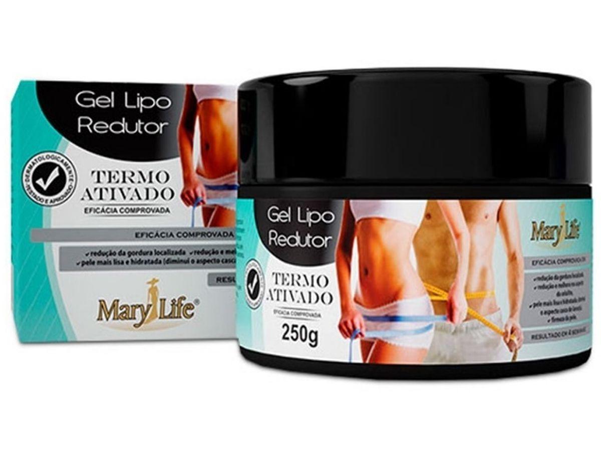 Kit 6 Gel Lipo Redutor Termo Ativado Anti Celulite Mary Life 250g